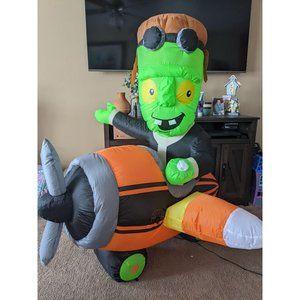 Gemmy Frankenstein plane inflatable airplane pilot